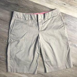 Banana Republic Tan Bermuda Shorts Size 4